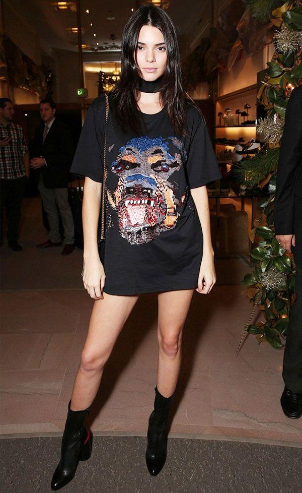Kendall Jenner Maxi T-Shirt Skinny Scaf
