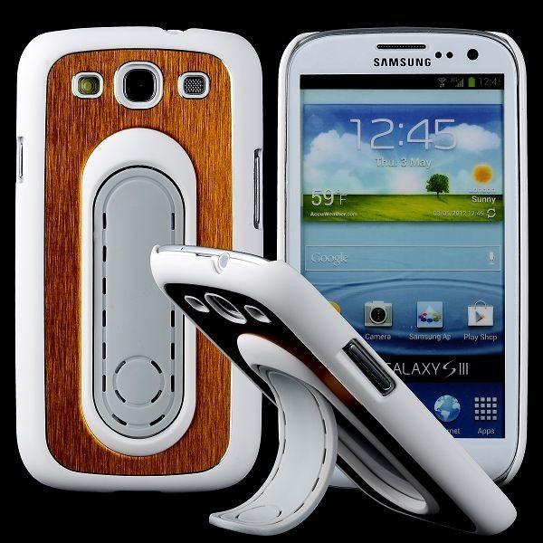 SIII Bend Stand (Wit - Gouden) Samsung Galaxy S3 Case