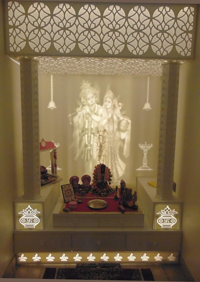 Pin By Shopinterio Com On Corian Tempal Pooja Room