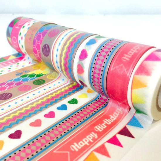Washi Tape Set Mash Up 12 Roll Set Geometric by TheSupplyHaven