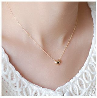 Minorder is $10 (mix order)Free Shipping Golden Boutique Small Pepper In Europe And America Jewelry Chain Heart Necklace N496 $0.50