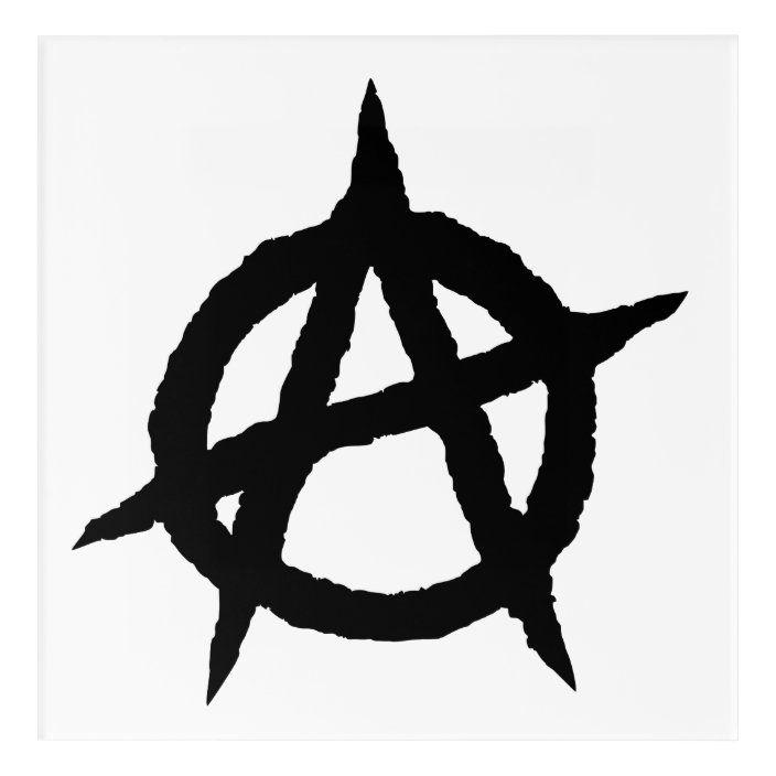 Anarchy Symbol Black Punk Music Culture Sign Chaos Acrylic Print Zazzle Com In 2021 Acrylic Prints Anarchy Symbol Anarchy