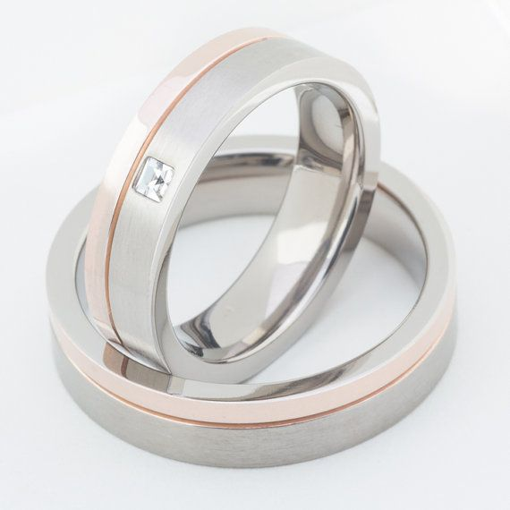 Two Matching Wedding Bands Promise Rings for by FirstClassJewelry, $79.00