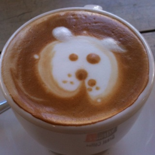 Coffee art by Simmone Logue, Cammeray #Puppucino