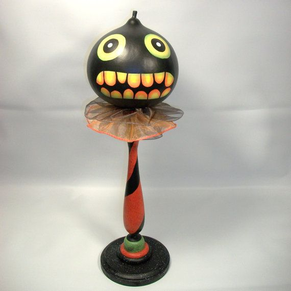 Halloween Gourd Head Haunted Swamp Holiday by Hauntedswampdesigns, $55.00
