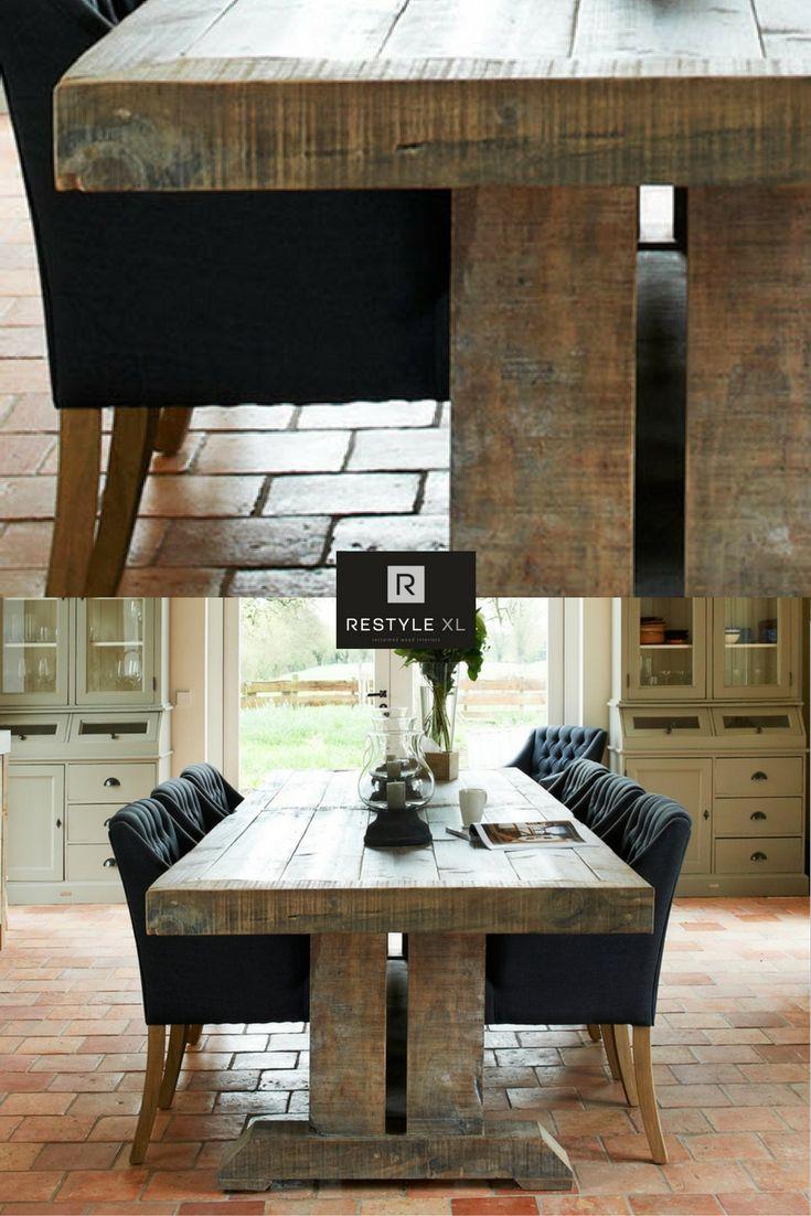 Kloostertafel dubbele T gemaakt van oud grenen#restylexl #grenen #houtentafel #eettafel #tafels #oudhout #hout #houten #kloostertafel #oudgrenen