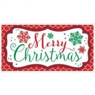 Banner Merry Christmas Horizontal - over 5 Feet Long! $12.95   A120218
