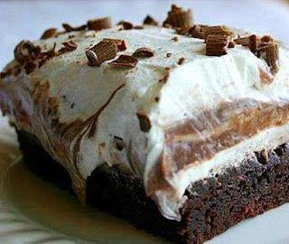 Recipes & Recipes: BROWNIE REFRIGERATOR CAKE