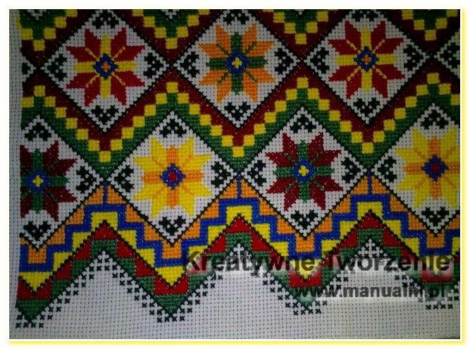 wyszywane poduszki haft krzyzykowy wzory ukrainskie (2)