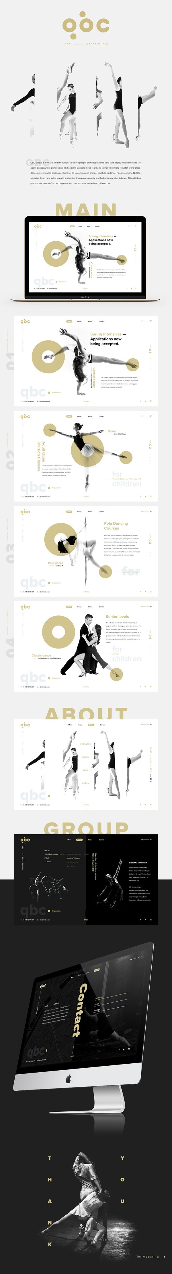 QBC dance studio - UI/UX Design | Abduzeedo
