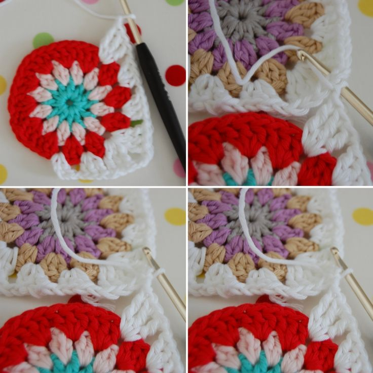 Joining circle grannies tutorial  #crochet
