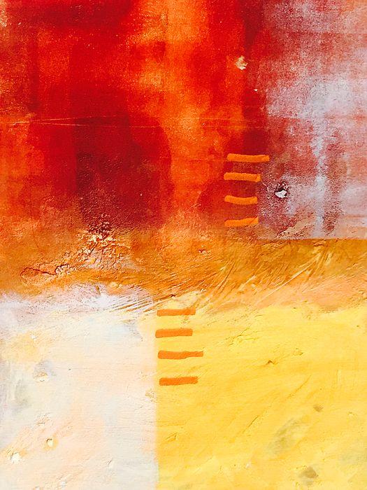 Life in Orange Abstract Art Prints by Nancy Merkle