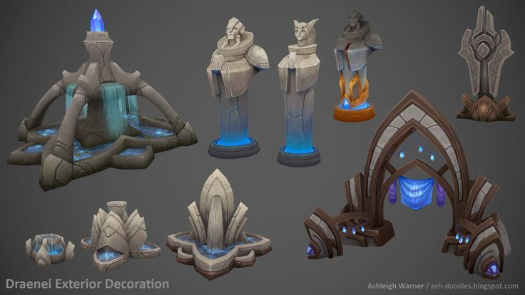 Draenei Exterior Decoration, Ashleigh Warner on ArtStation at http://www.artstation.com/artwork/draenei-exterior-decoration