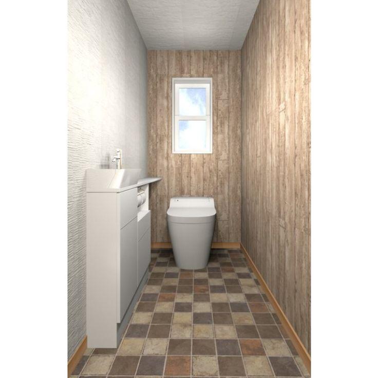 ウッド&ホワイト(手洗い1500)|「デザインを選べる」リフォームサイト コーデルーム