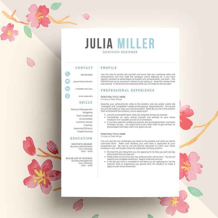 33 best Resume Template Designs images on Pinterest Resume - word resume template mac
