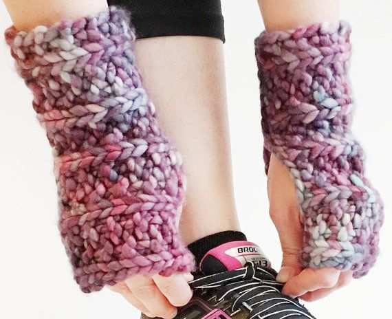 Fingerless Glove Wrist Warmers // Twilight Lotus by knitspo