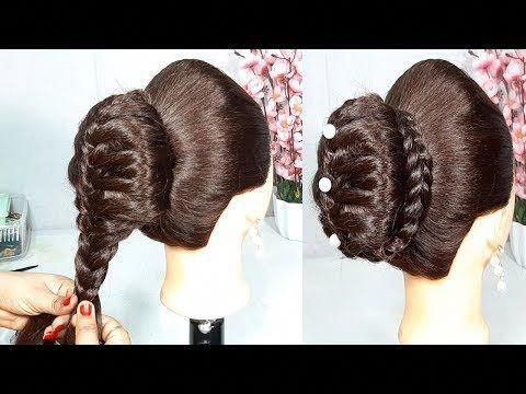 New Bun Hairstyle Using Donut || hairstyles for girls || party hairstyle || easy