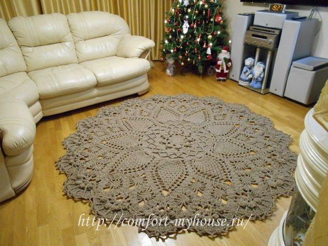 (+1) Вязаные ковры из шнура (вязание крючком)
