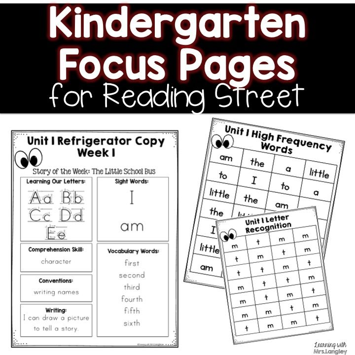 Do you want to inform your families of your weekly goals? Need practice pages for high frequency words and letters? This product is for you! These Kindergarten Focus Pages for Reading Street put all of your letters, high frequency words, amazing words, comprehension focus and writing focus in one easy spot.