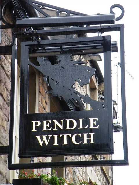 """Magick Wicca Witch Witchcraft:  """"Pendle Witch"""" Pub Sign, Lancaster, England, by CoasterMadMatt, via Flickr."""