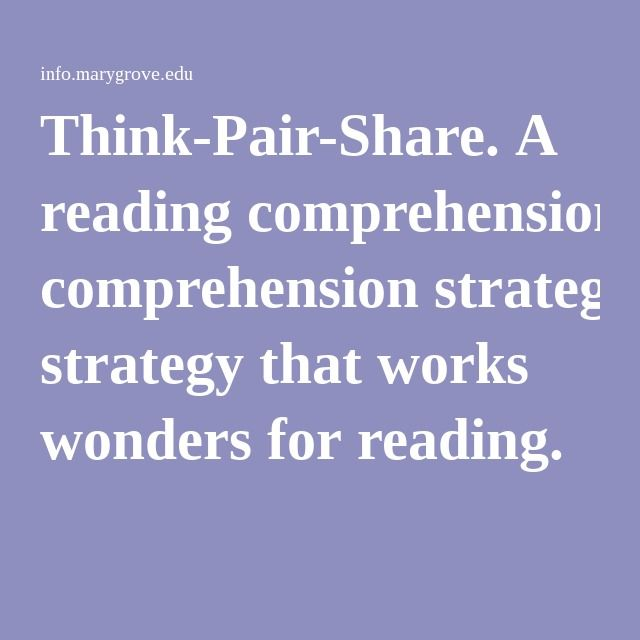 think pair share method Think-pair-share steps of a think-pair-share this kind of situation, where both the student and teacher are hesitating to increase interaction, is the reason why think-pair-share is so.