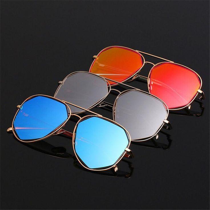 TSHING 2016 New Women Sunglasses Fashion Brand Designer Twin-Beam Aviation Mirror #eyewear #trendy #springfashion #eyefashion #sunglasses #stylish #glasses | eBay