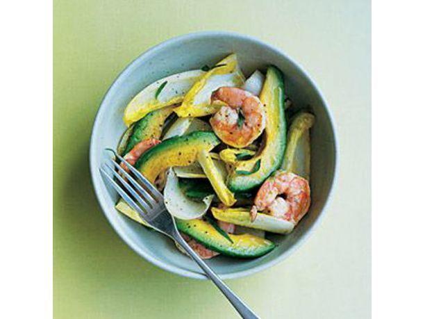 #Ricetta #insalata di mare con #gamberi, #mango e #avocado
