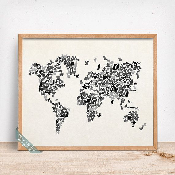 18 best World Map Prints images on Pinterest  Poster prints Maps