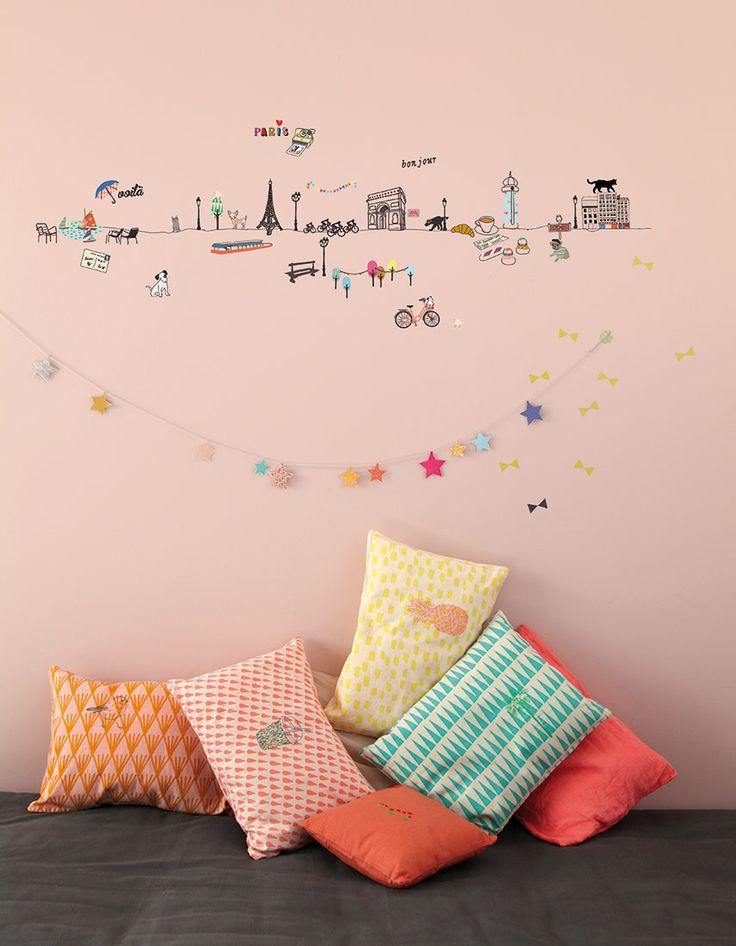 #Stickers #Paris de la marque Mimi'lou sur notre site  #Déco #Chambre #Enfant
