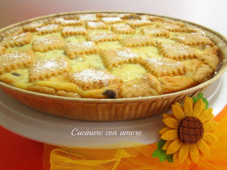 Crostata+ricotta+pera+e+cioccolato