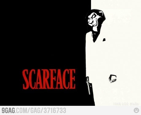 have you watched scarface? then stop watching django! that epic scene came from this epic legend.