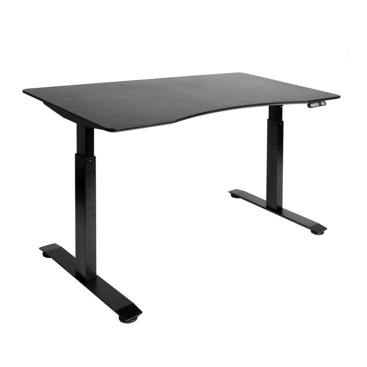 Airlift Black Base with Black Ergo Table Top S2 Electric Height with Adjustable Standing Desk