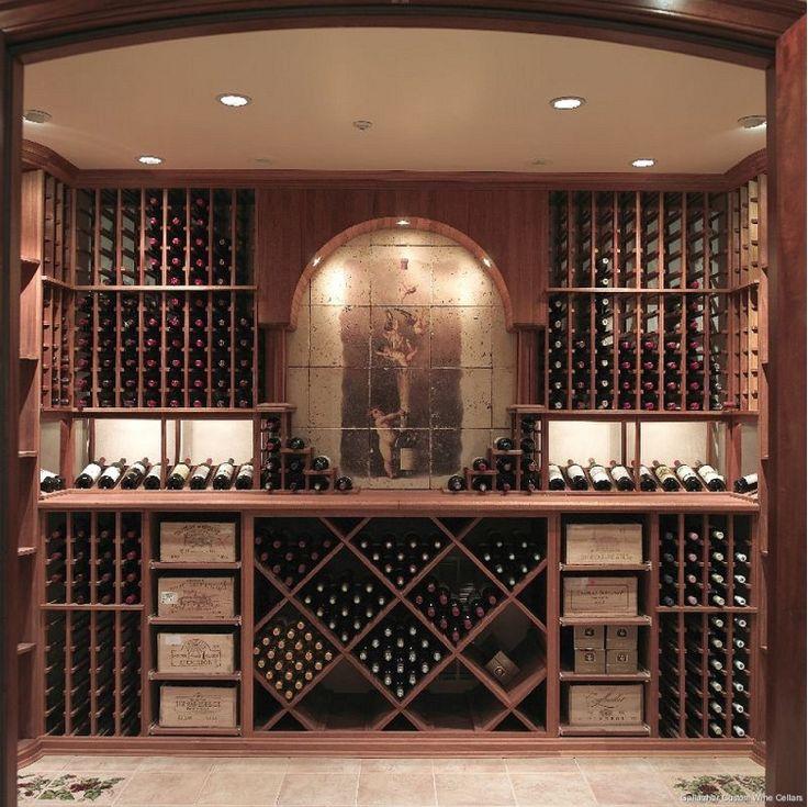 I Would Change To Square/rectangular Cut Out With Modern Art. Gallagher  Custom Wine Cellar   Home And Garden Design Ideau0027s