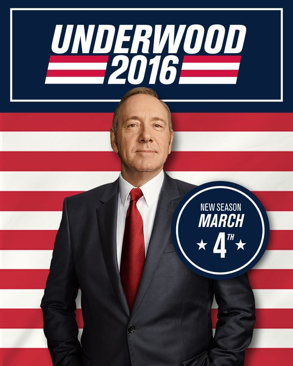 President Frank Underwood Runs for Re-Election in the Upcoming 2016 Season of House of Cards