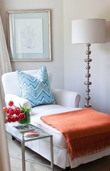 Pool/Guest House: This bedroom seating area is very cozy chic. Whether it be enjoying some AC after getting some sun or catching up on a great book, this seating area is very inviting.