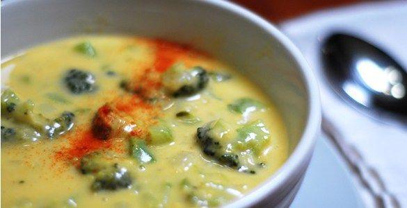 суп-пюре из брокколи с сыром рецепт
