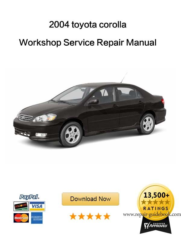 toyota corolla 2004 service manual download