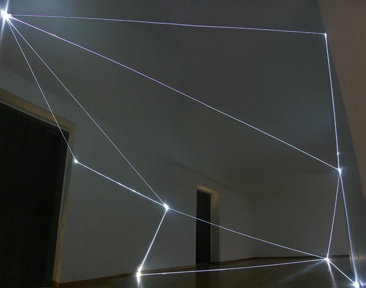 STATI DI ILLUMINAZIONE 2004 Installazione in fibra ottica, Galleria Bruna Soletti, Milano