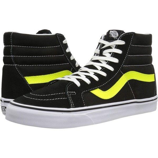 Black/Neon Yellow) Skate Shoes