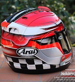 Pintar casco | arai especial carrera2