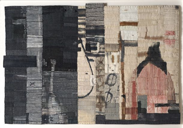 Matthew Harris- Aoyama Window Cloth No. II. I love Harris' work, the intricate sewing, the colours, the washed out aged look. Seen at the CAA london 2012