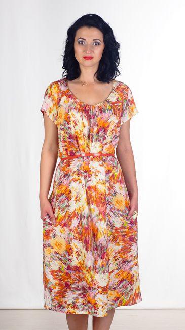 Летнее лёгкое платье, нежный принт. Прекрасно смотрится под пояс. Отличный вариант на каждый день.
