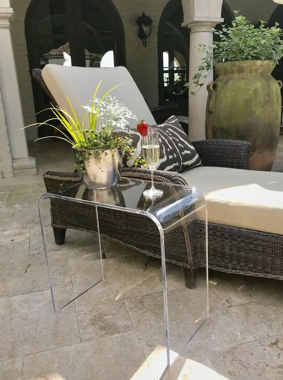 21x 12x 21 High X 1 2 Clear Acrylic Etsy In 2020 End Tables Modern Home Furniture Outdoor Furniture Sets