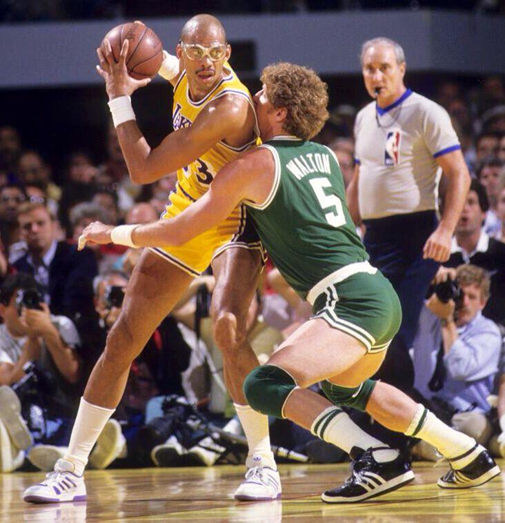 Kareem Abdul-Jabbar VS Bill Walton 1987   ★BASKETBALL ...