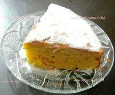 Torta de naranja y calabaza para diabeticos y light,con receta