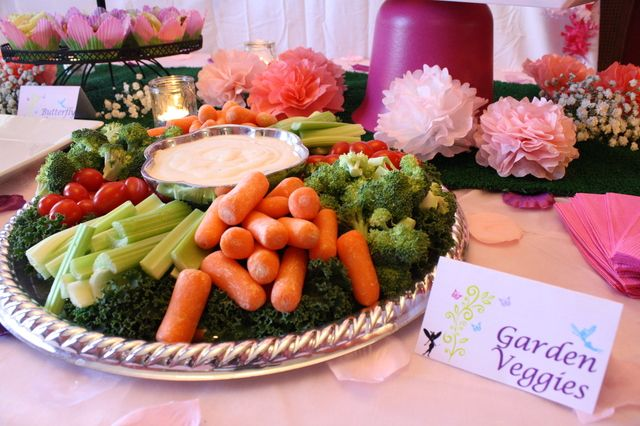 Garden veggies at a Fairy Party #fairy #partyfood