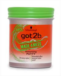 Schwarzkopf Got2b Made 4 Mess Texturizing Putty Schwarzkopf Got2b Made 4 Mess Texturizing Putty 100ml: Express Chemist offer fast delivery and friendly, reliable service. Buy Schwarzkopf Got2b Made 4 Mess Texturizing Putty 100ml online from Express http://www.MightGet.com/january-2017-11/schwarzkopf-got2b-made-4-mess-texturizing-putty.asp
