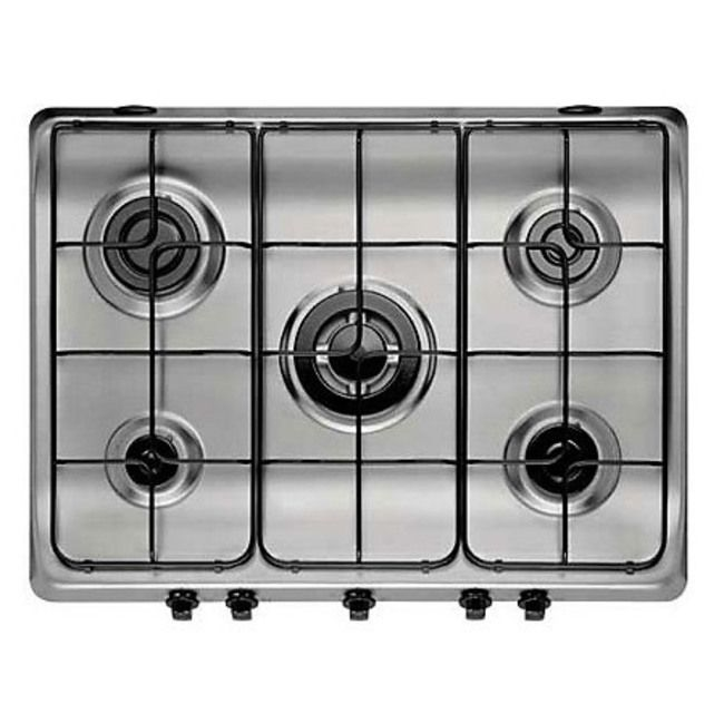 Indesit PIM750ASIX - 70cm Gas Hob in Stainless Steel, FSD