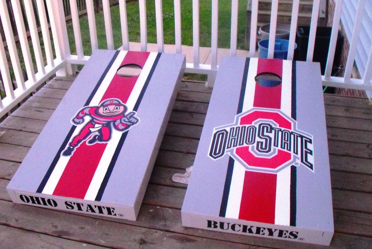 Idea for painting armoire in ohio state colors