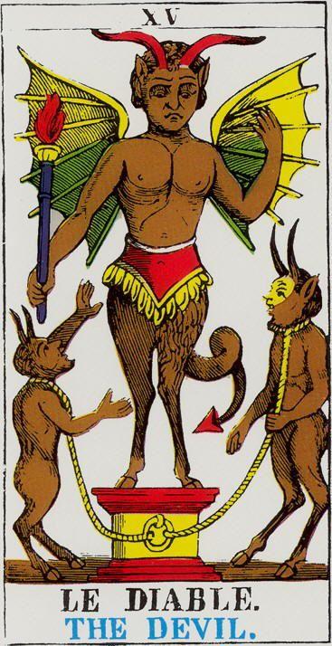 Tarot D The Didactic Tarot By Jeffrey M Donato: The Devil - Tarot D'Epinal